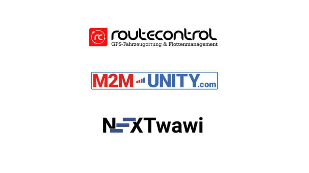 routecontrol, M2M Unity and NextWawi logo in one picture